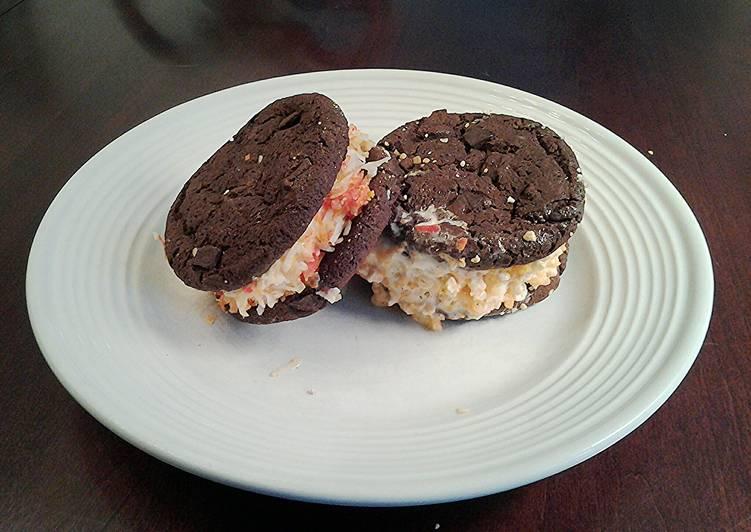 Halloween Brownie Cookie  Ice Cream Sandwiches
