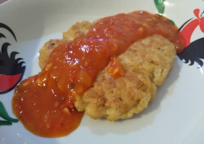 Steak Tempe saus tomat