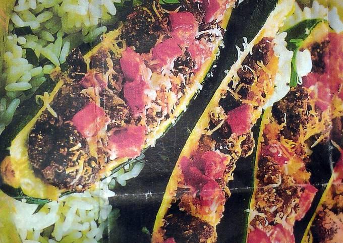 spicy zucchini boats