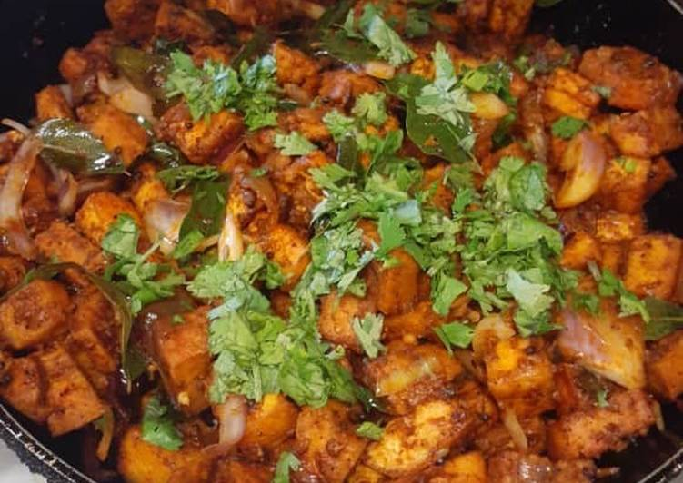 Recipe: Delicious Fried Tofu Varuval (Vegan)