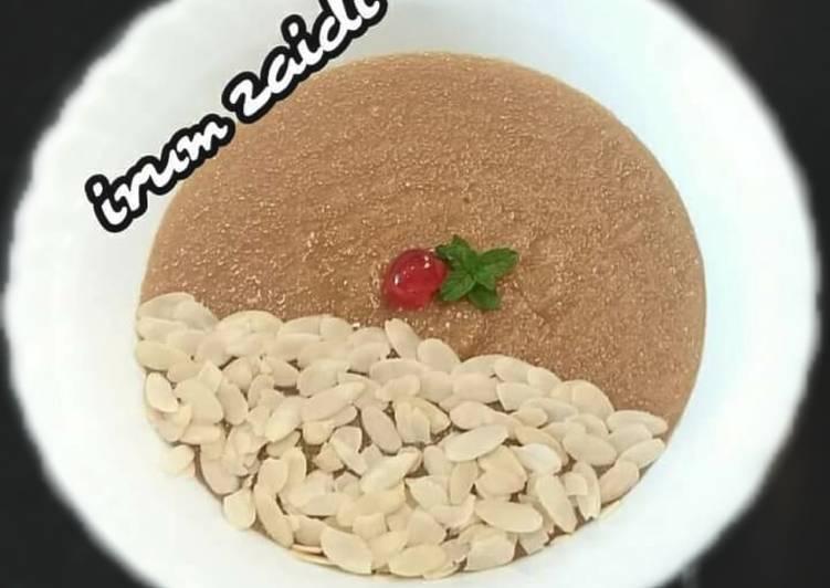 Recipe of Ultimate 🍜Gur/jaggery sooji halwa (jaggery semolina pudding)🍜