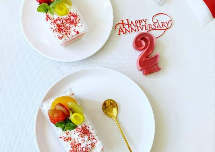 Dessert box merah putih