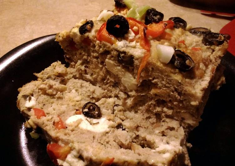 Easiest Way to Make Super Quick Homemade Mediterranean chicken meatloaf