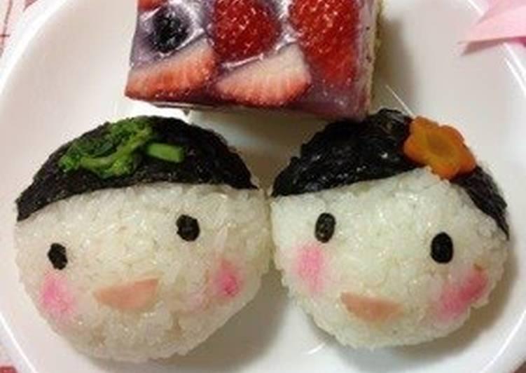 Hina Doll Prince and Princess Shaped Temari-zushi (round sushi balls)