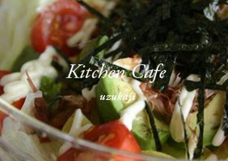 Easy Comfort Dinner Ideas Super Quick Homemade Japanese-style Tofu and Avocado Salad