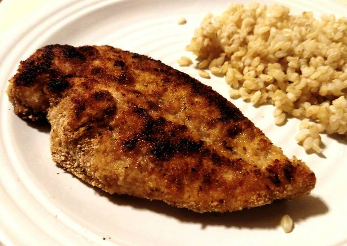 Pan-Fried Breaded Chicken Breast