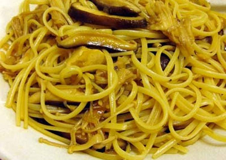 Step-by-Step Guide to Prepare Homemade Delicious Butter Soy Sauce Mushroom Pasta