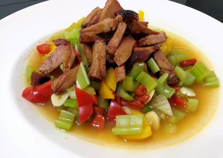 Recipe of Super Quick Homemade LG VEGETABLE WITH TERIYAKI ROASTED PORK