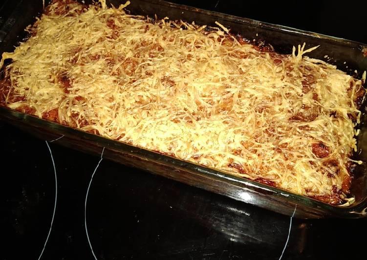 Façon la plus simple Préparer Délicieux Gratin de pâtes et haricots verts à la sauce tomate