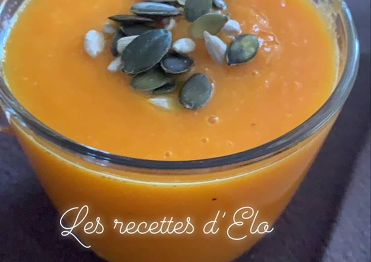 Soupe à la carotte, gingembre et orange au Cookeo