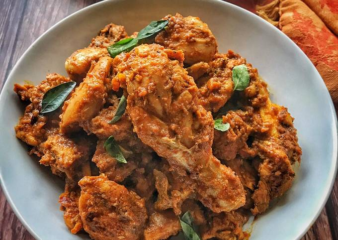 Chicken Roast - Kerala Style  #mycookbook