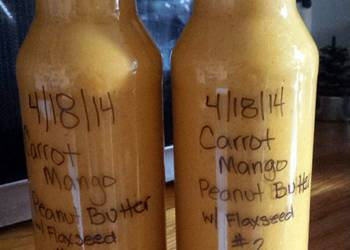 Easiest Way to Recipe Delicious Carrot Mango Peanut Butter Smoothie