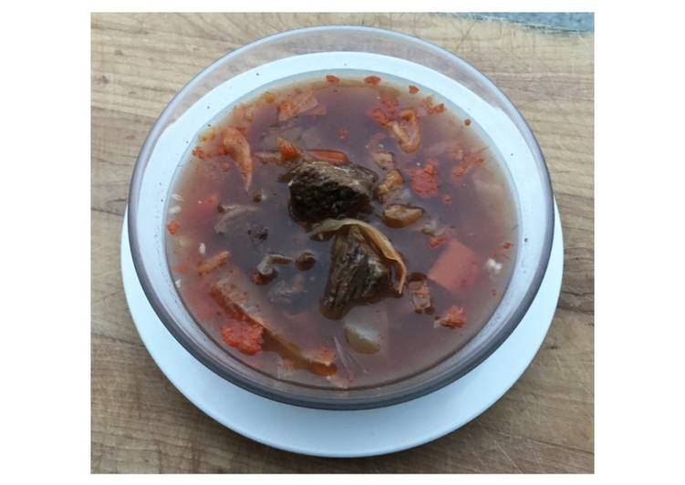 Sweet & Sour Beef Cabbage Soup FUSF