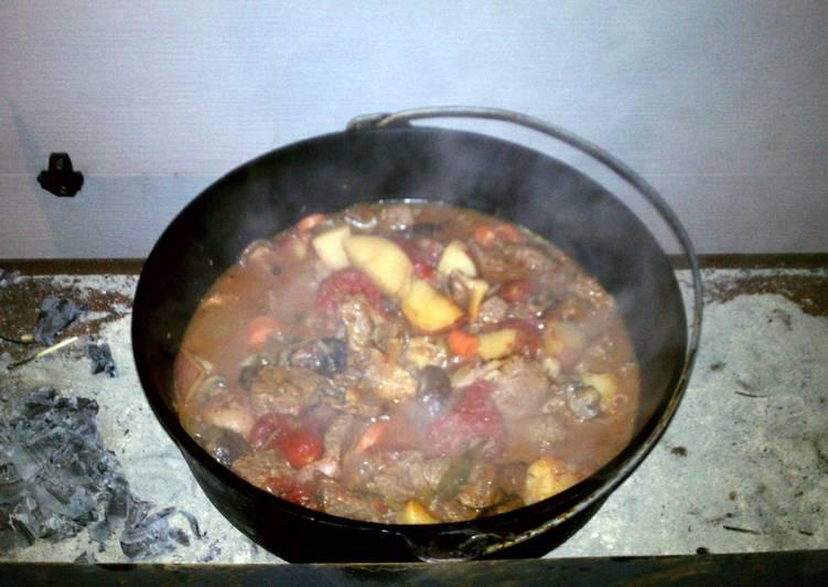 Dutch Oven Elk Stew