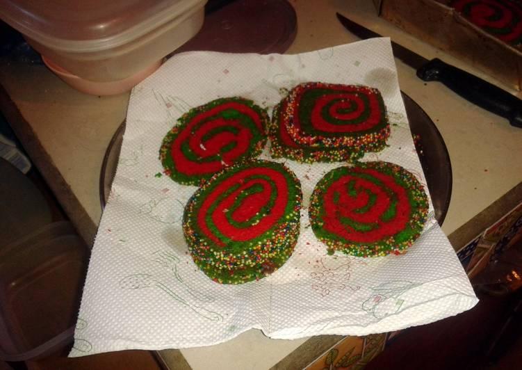 Swirl Xmas Cookies