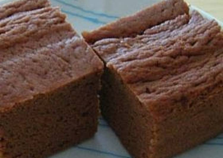 Steamed Okara Powder Bread with Cocoa - Laurie G Edwards