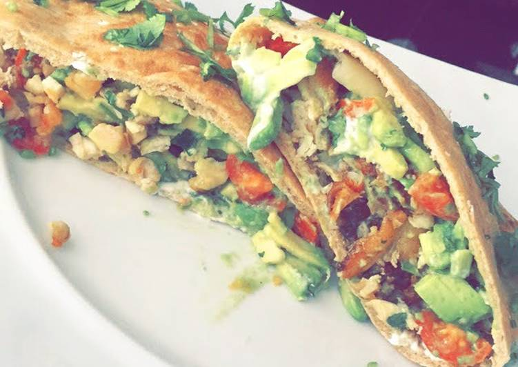 Chicken Avocado Pitas
