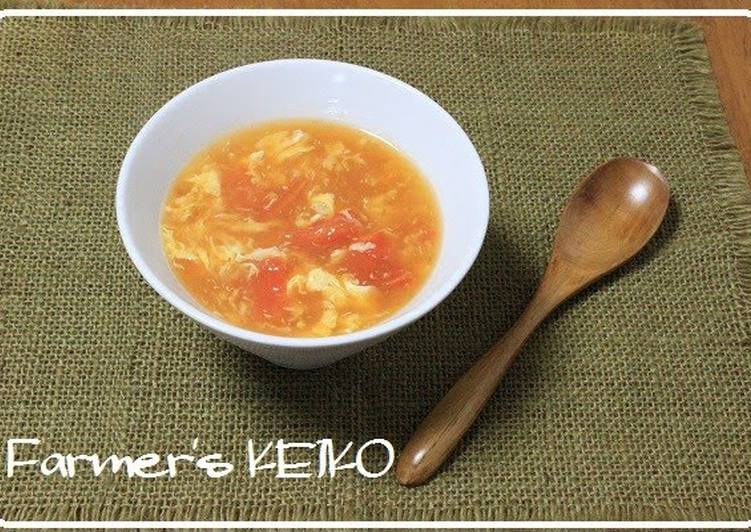 5 Minute Recipe of Cooking 【A Farmer's Recipe】 Tomato Hot and Sour Soup