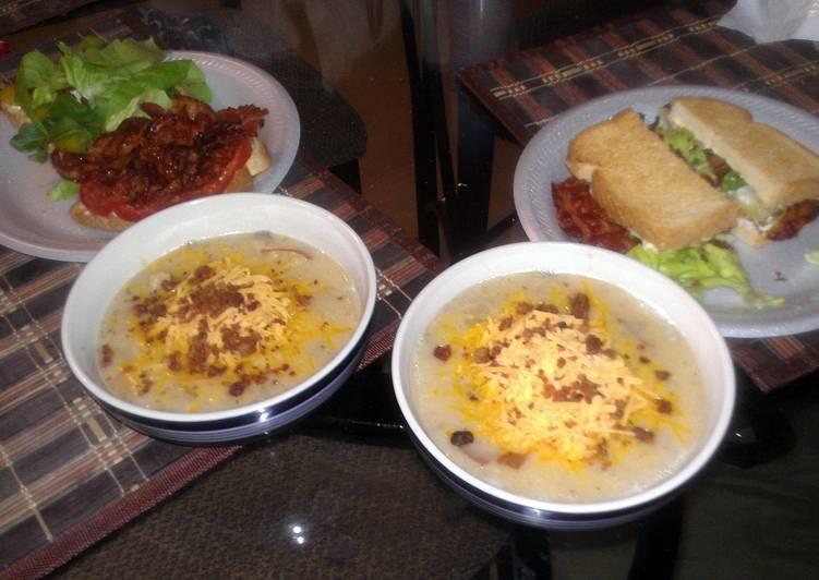 Home Cooked Crock Pot Potatoe Soup