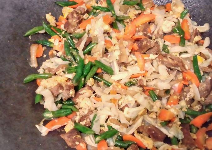 Mixed Veggie Beef and Egg Stir Fry