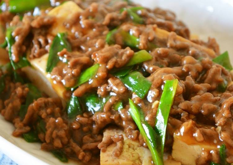 Sukiyaki-style Stewed Ground Meat and Tofu, Some Foods That Benefit Your Heart