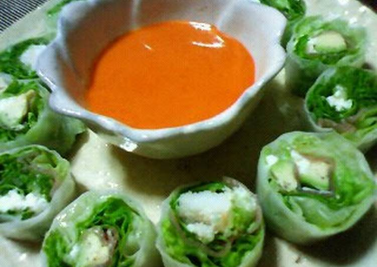 Recipe of Homemade Fresh Spring Rolls with a Delicious Sauce