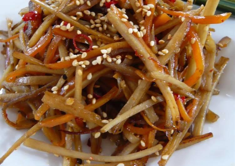 Recipe of Perfect Tasty Burdock Root and Carrot Kinpira