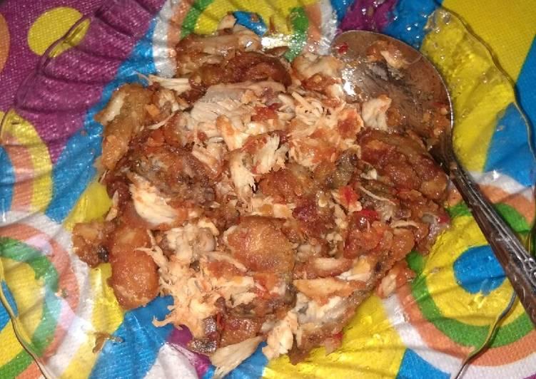 Ayam geprek pedas simple