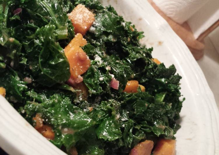 Simple Way to Make Favorite Kale and butternut squash salad