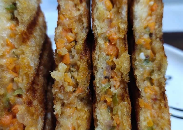 Recipe of Favorite Veg mayonnaise grill sandwich