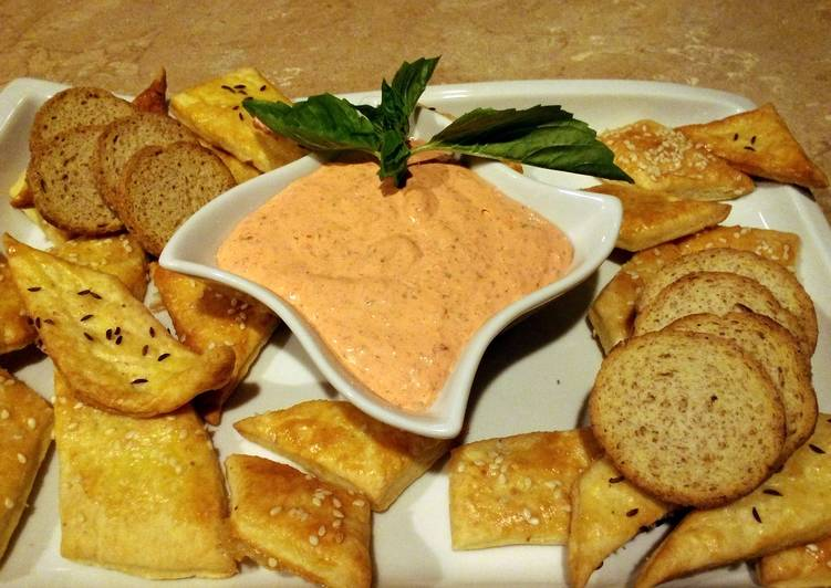 Recipe of Perfect Roasted red pepper dip