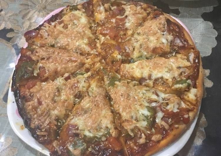 Recipe: Perfect Veg pizza #valentinespecial #mealfortwo