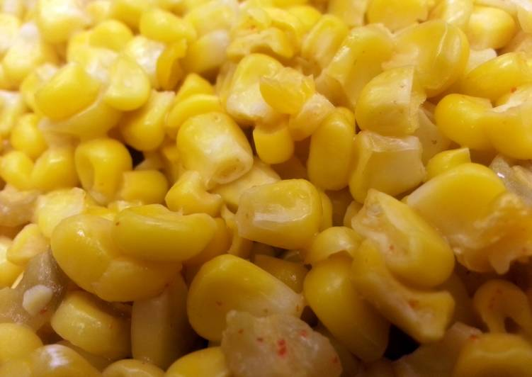 Corn w/ Coconut & Diced Green Chiles