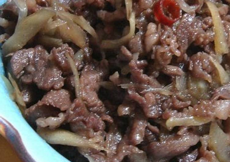 Recipe of Quick Simmered Beef (Shigure-ni) with Burdock Root