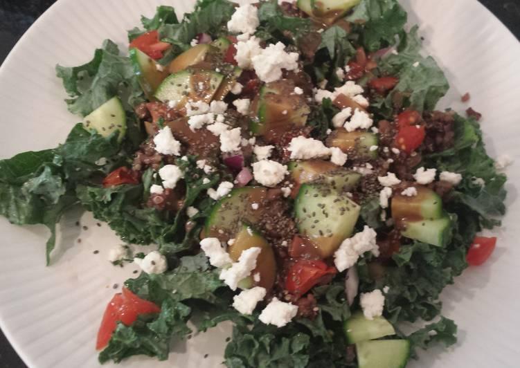 Kale and grain salad