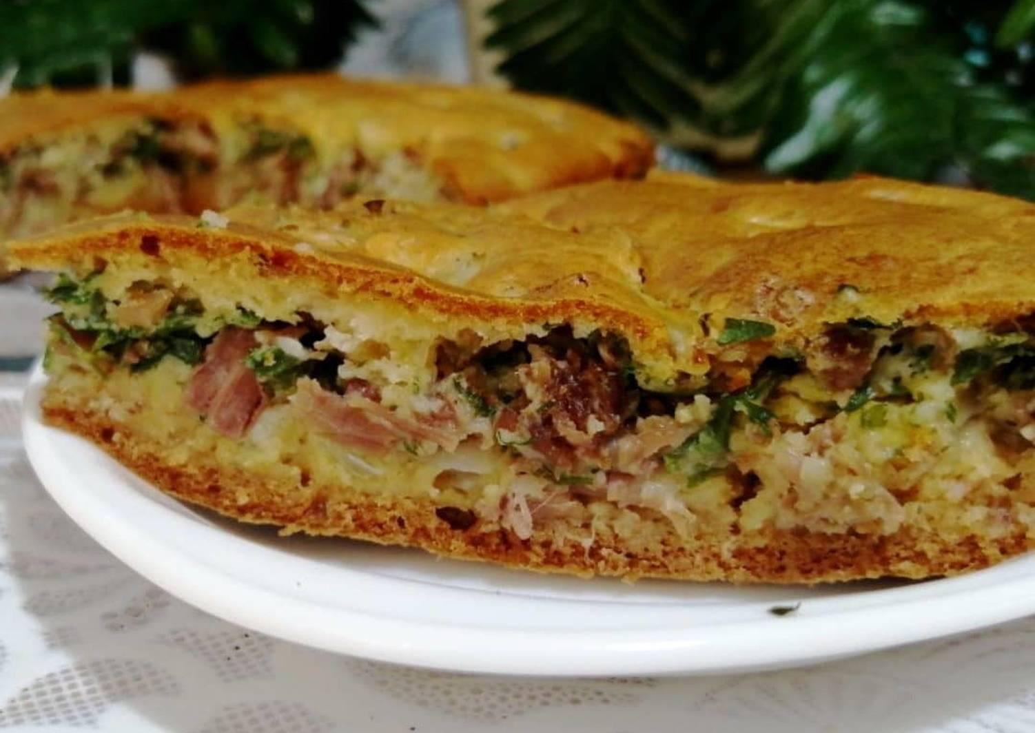 заливной мясной пирог рецепт с фото сувениры, шампанское