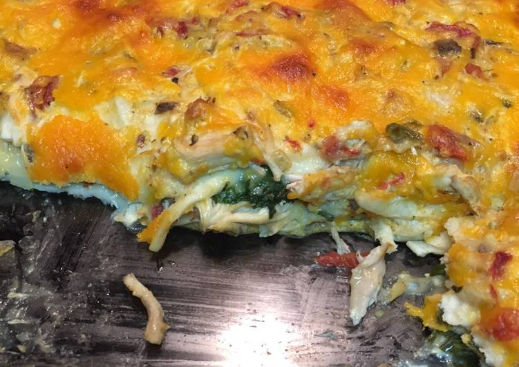 Recipe: Tasty Chicken and spinach enchilada dinner casserole