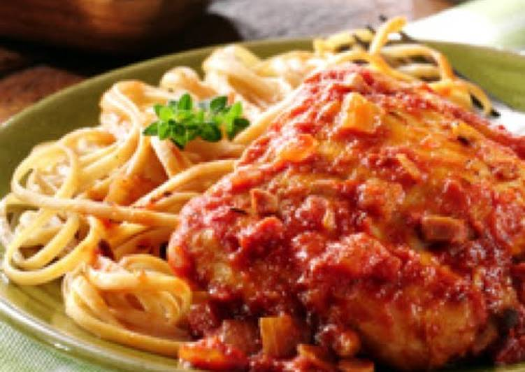 Steps to Prepare Perfect Skillet Chicken Cacciatore