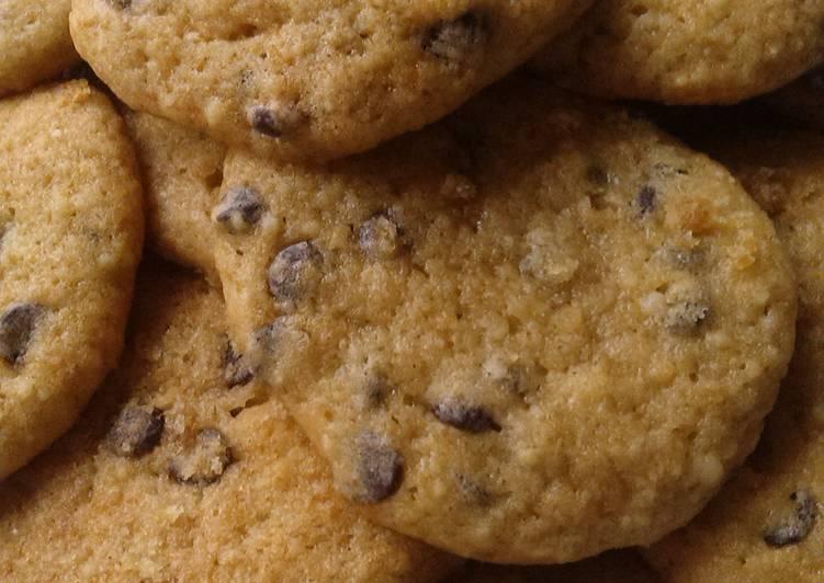 Vickys Banana Choc Chip Cookies, GF DF EF SF NF