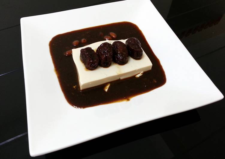 Simple Way to Prepare Any-night-of-the-week Tofu With Red Dates In Peanut Dark Sauce