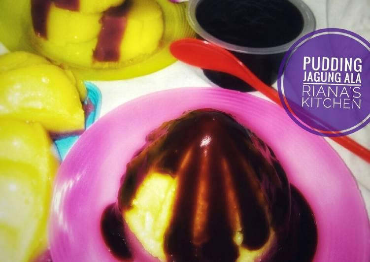 #pudding jagung vla coklat>ala riana's kitchen