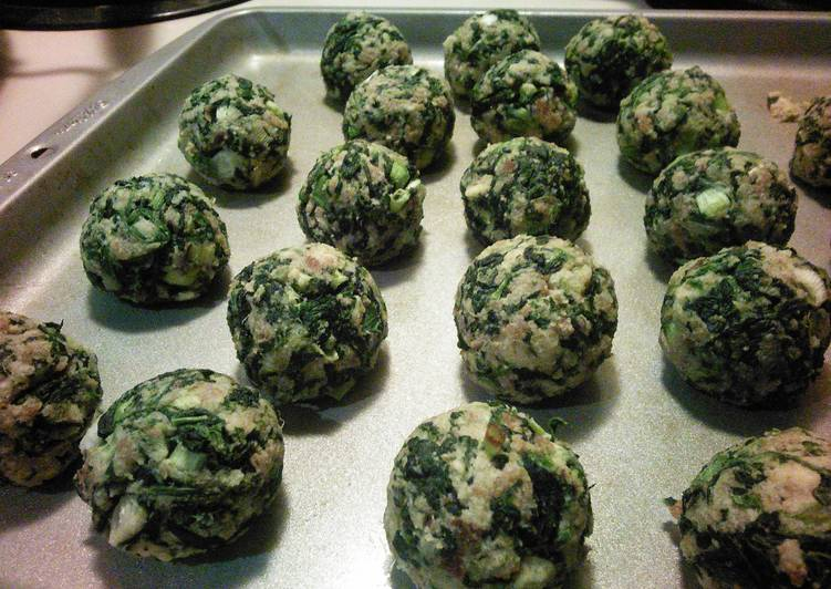 25 Minute Recipe of Homemade Jenny's Spinach Balls