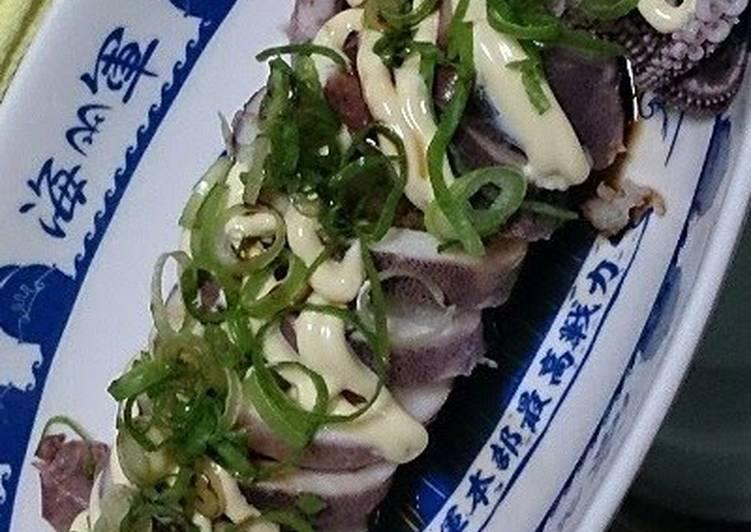 Recipe of Homemade Easy Grated Daikon Radish Stuffed Squid