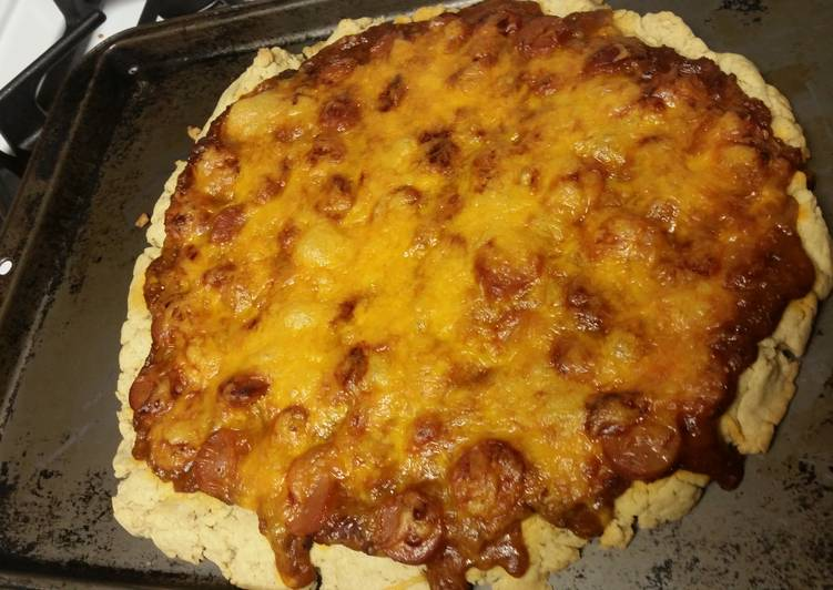 Chili Cheese Dog Pizza (Gluten-free)