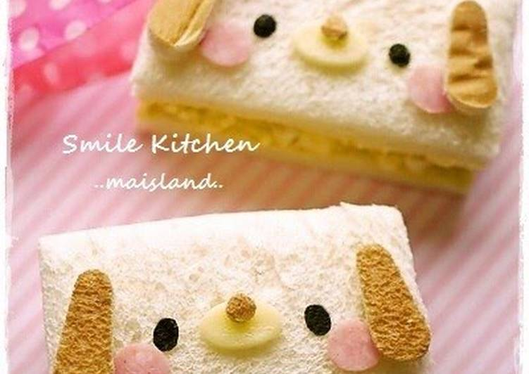 Little Puppy Sandwich for Bento