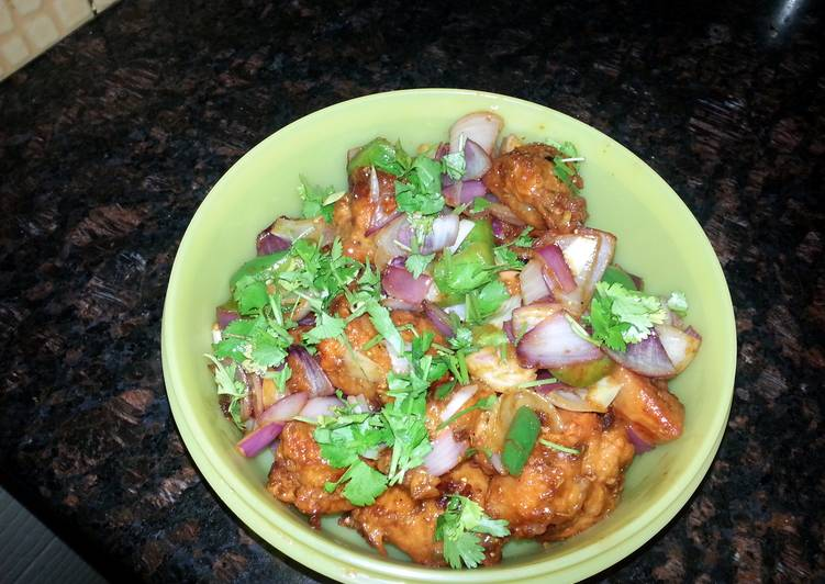my quicky chilly chicken my family love it a lot.