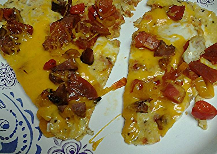 Recipe: Appetizing pizza egg omelet