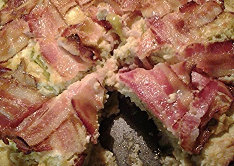 Tomitio cauliflower and bacon pie