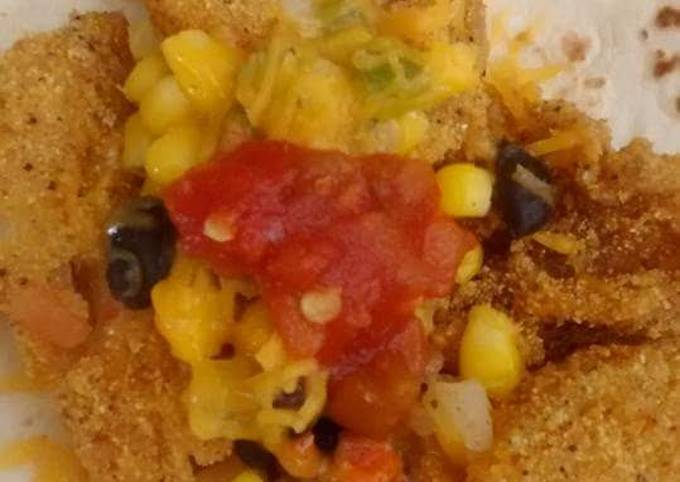 Leftover-Catfish Soft Taco