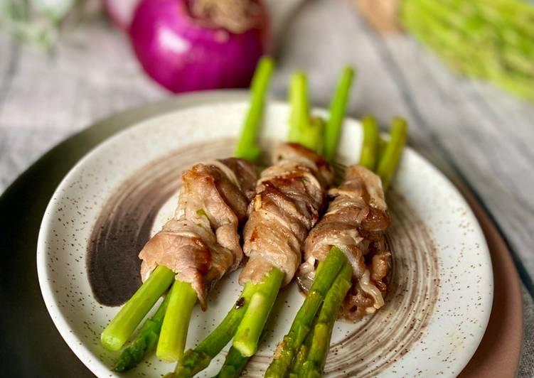 Aspagus beef roll